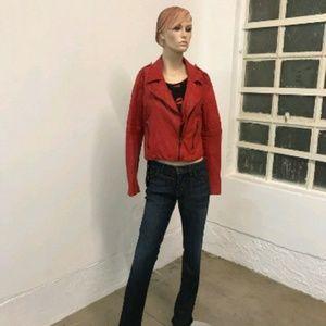 Zara Lambskin Red Jacket